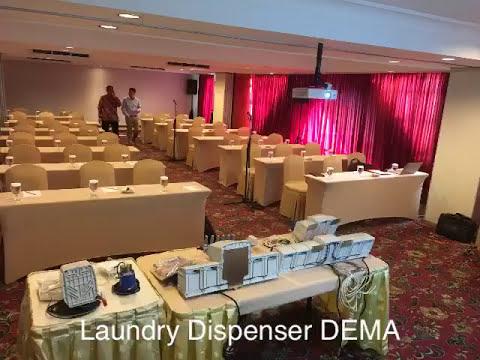 Mesin Laundry Dispenser DEMA - training @ Century Park Hotel - Jakarta