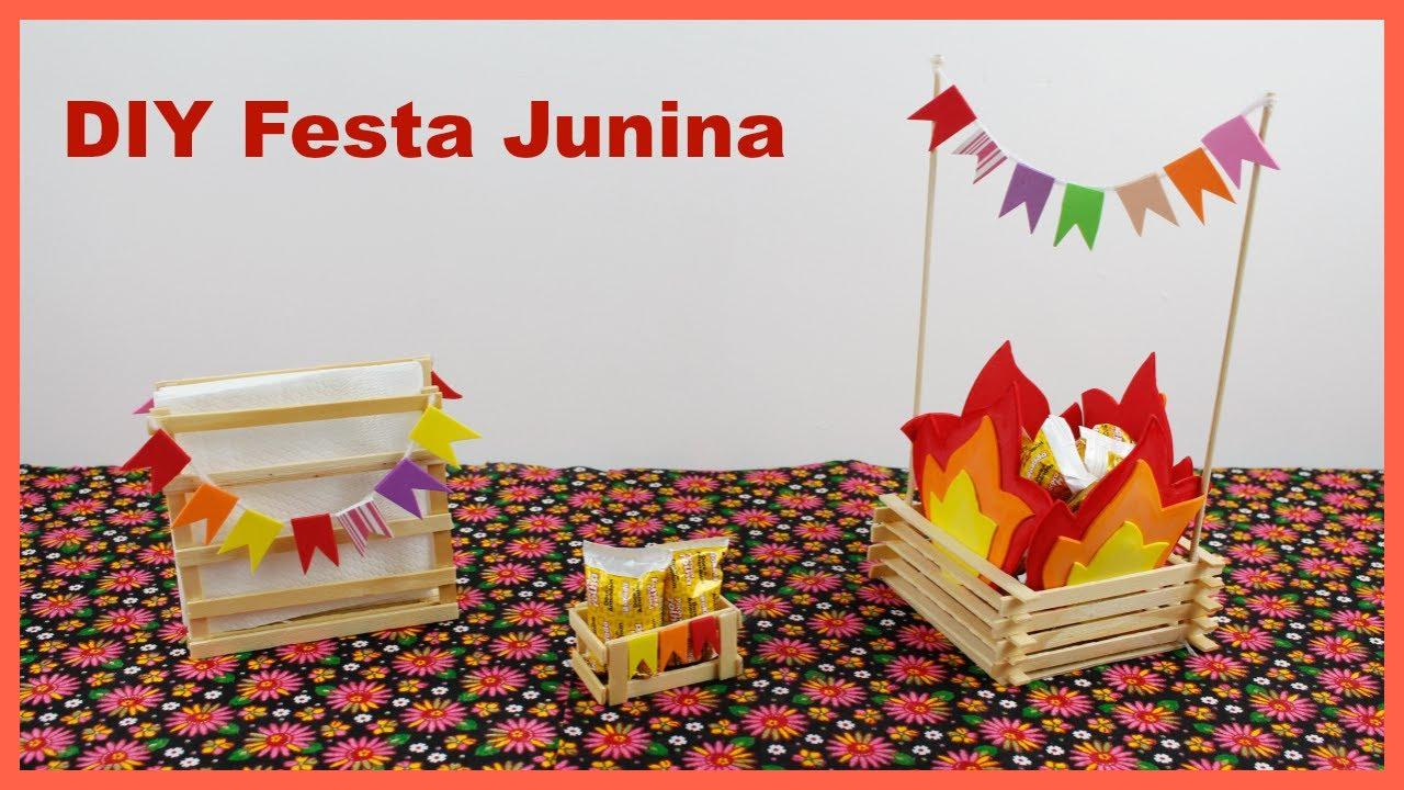 DIY Dicas de Decoraç u00e3o para Festa Junina #FestaJuninaDIY YouTube -> Decoração De Balões Festa Junina