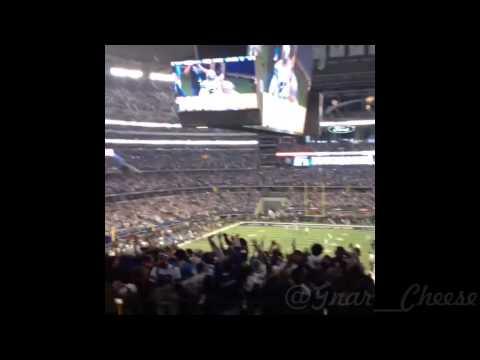 Detroit Lions @ Dallas Cowboys Tony Romo game winning touchdown (Fan Reaction)