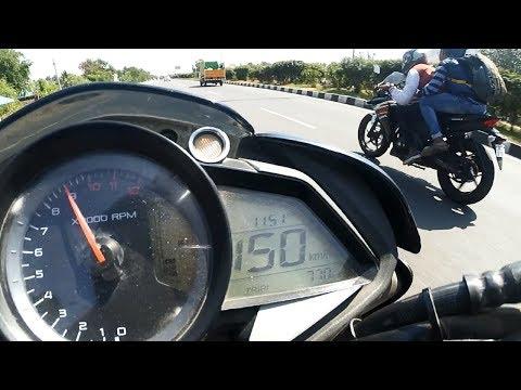 Honda CBR 250r VS Pulsar NS 200 - Drag Race   Highway Battle   Topspeed 155+KM/H