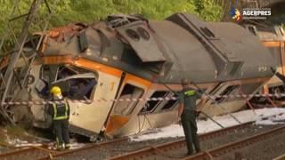 Tren de călători, deraiat în nordul Spaniei: cel puțin patru persoane au murit