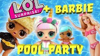 LOL Dolls Families Have Fun at Barbie