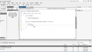 Visual C #(Sharp) 2012 - If y Else, comparar un numero mayor y menor en C#