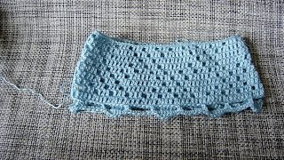 Кайма крючком для вязаной юбки