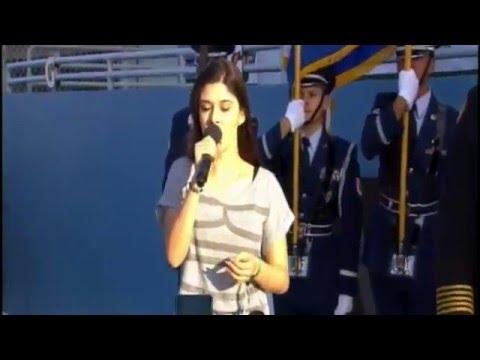 "NASCAR ECOBOOST 2015   God Bless America by Liz Elias ""LIVE Performance"""