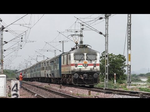 Thumbnail: SILENT KILLER : TKD WAP7 with CHENNAI EGMORE SF EXPRESS at Speed - Indian railways