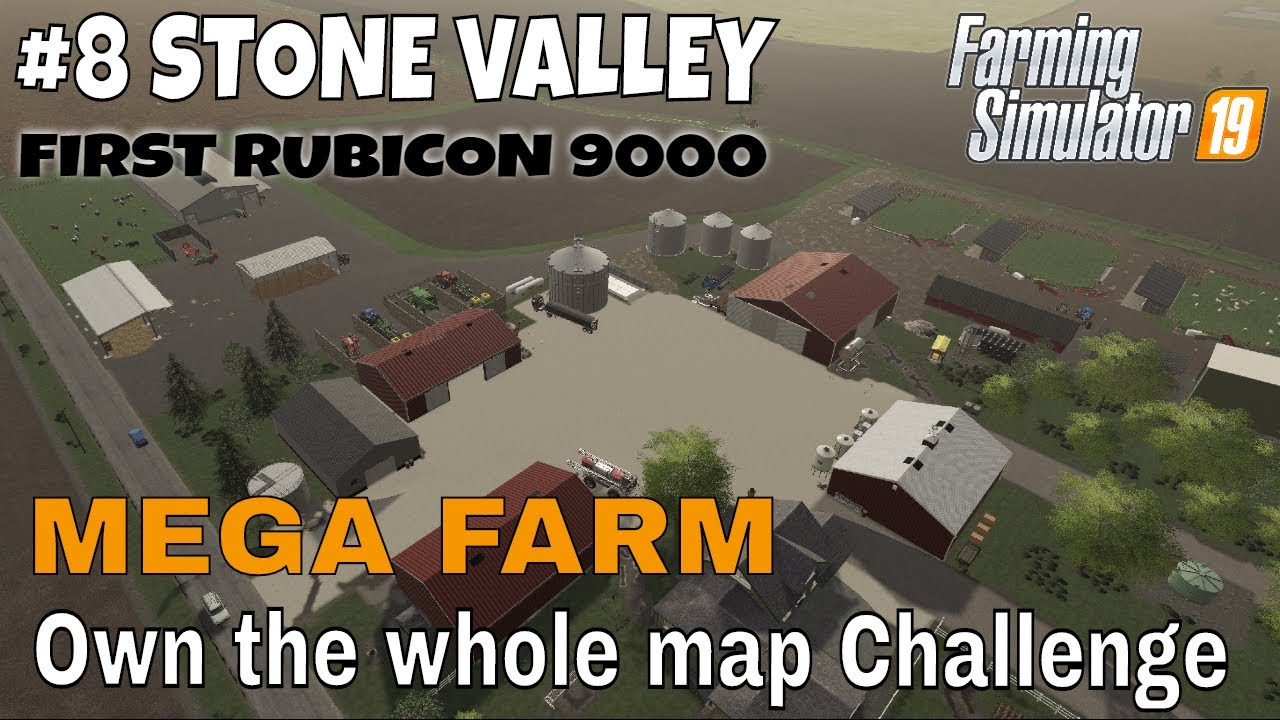 Download FS19 Stone Valley #8 Mega Farm Challenge First RUBICON 9000 Farming Simulator 19 Timelapse