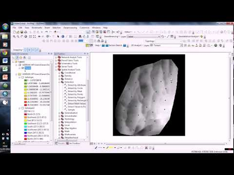 How To Create Geological Orientation Data From Surfaces in ArcGIS   YouTube