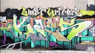 Graffiti artist JayKaes painting in Hong Kong with FLAME PAINT (Fla...