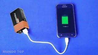 Cargar un Celular con una Batería (#01 Lifehacks)