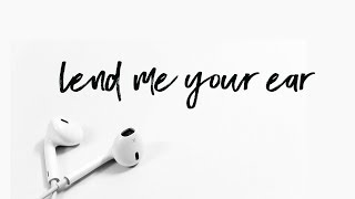Lend Me Your Ear | Pastor Don Young