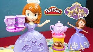 Sofia the First Play-Doh Tea Party Set - Disney Princess Toys - Kinder Playtime
