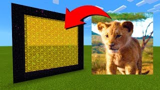 How To Make A Portal To The Simba Dimension in Minecraft!