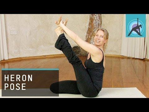 Heron Pose or Krounchasana, Yoga