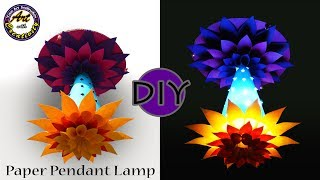 DIY Paper Pendant Lamp | lamp shades | Lamp | hanging light | Art with Creativity 203