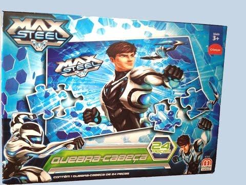 Puzzle Max Steel Action Figure Quebra-Cabeça 24 peças Mattel Games - ToysBR