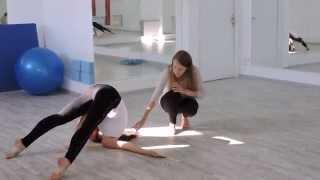 Связка в стиле contemporary dance видеоурок обучение