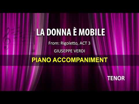 La Donna è Mobile / Verdi: Karaoke + Score guide / Tenor