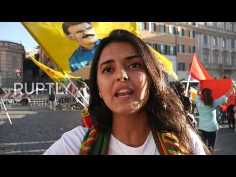Italy: Kurds rally in Rome against Turkey's operation in northeastern Syria