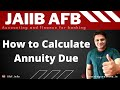 Annuities: Annuity Due future value Numerical Accounting and finance for banking Hindi