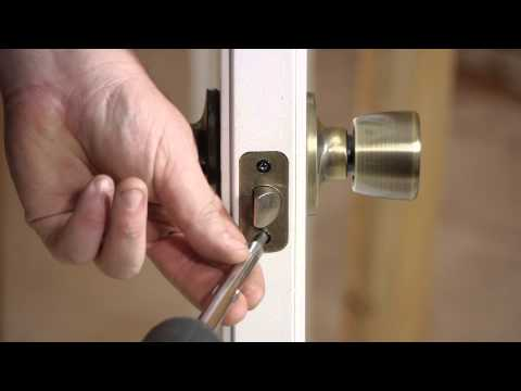 How to Fix Outside Door Lock Bolts Stripped in Wood : Door Installation & Repairs