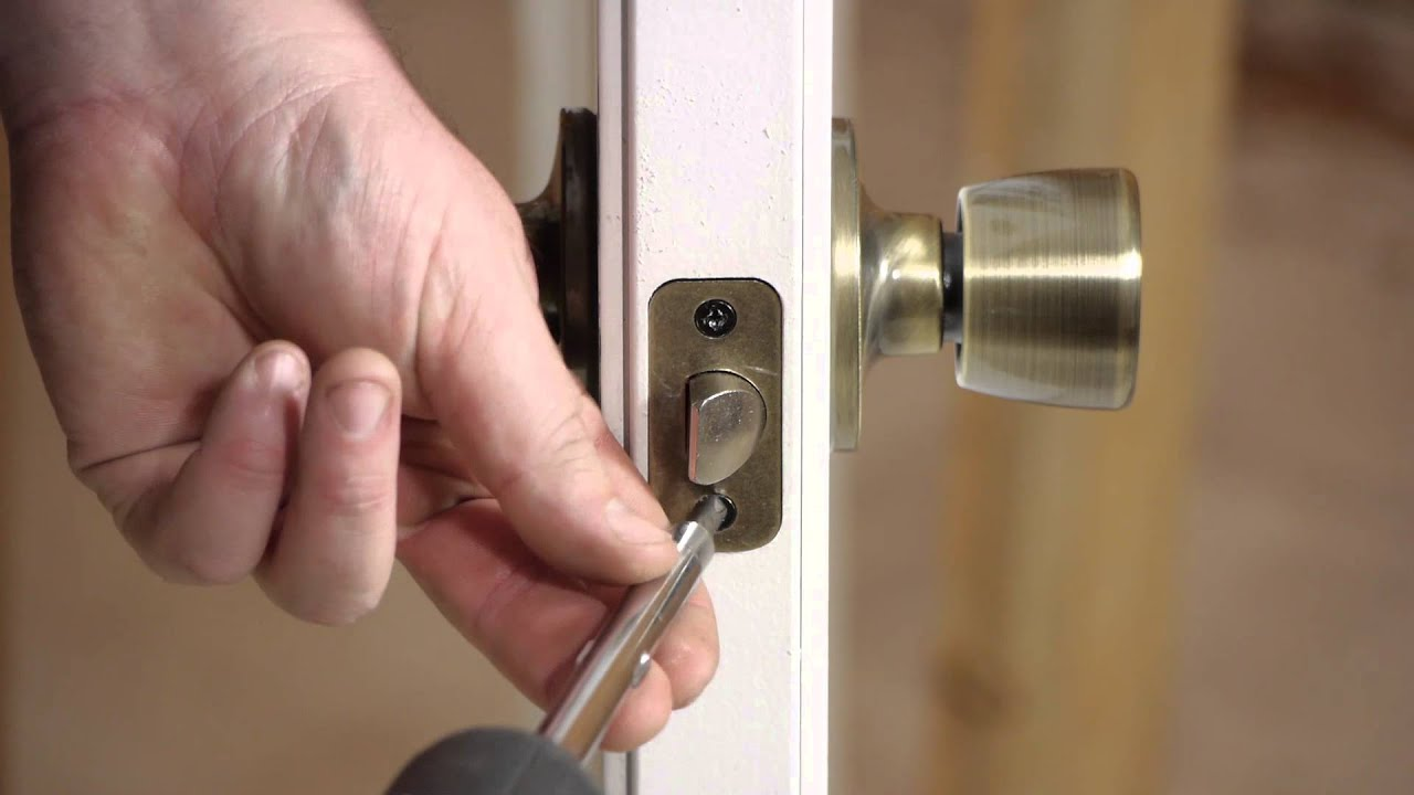 How To Fix Outside Door Lock Bolts Stripped In Wood Door Installation Repairs Youtube