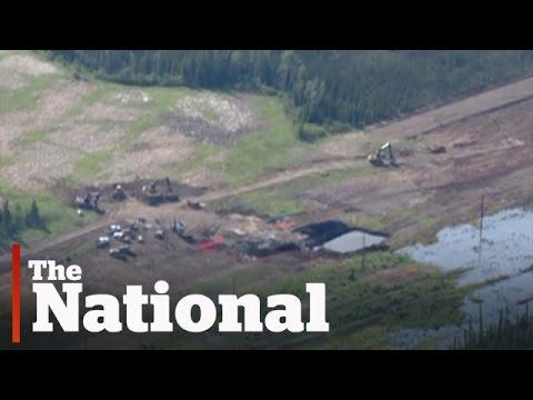 Huge Alberta Pipeline Spill