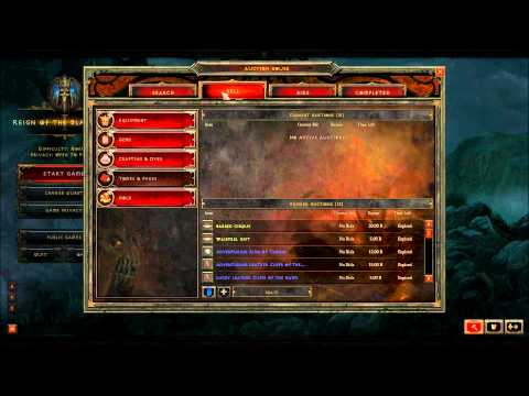 Diablo3 (Turkce)  Beta Auction House bilgileri HD by TURK