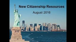 New Citizenship Resources: August 2016
