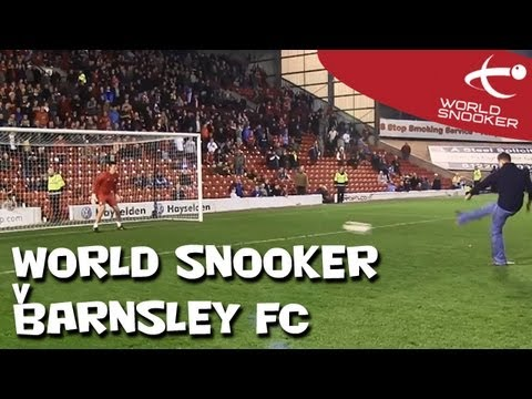 World Snooker vs Barnsley FC penalty shoot out!
