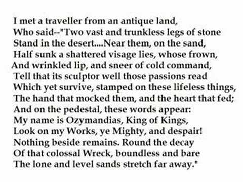 """Ozymandias"" by Percy Bysshe Shelley (read by Tom O"