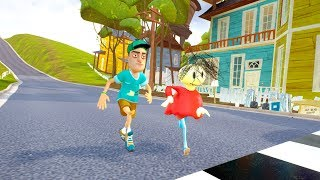 KID PLAYER VS PLAYTIME RACES - Hello Neighbor