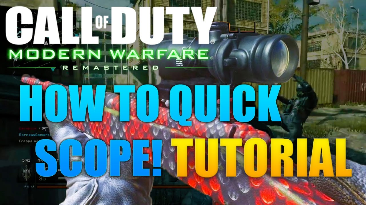 How to quick scope in black ops 3 tutorial youtube.