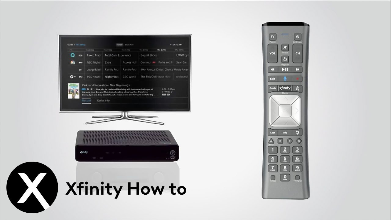 How to Program Your X1 Remote Control to Your TV and Audio Device