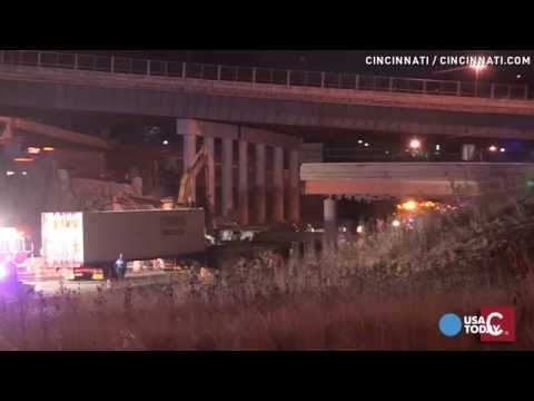 Cincinnati bridge collapse kills worker, injures driver