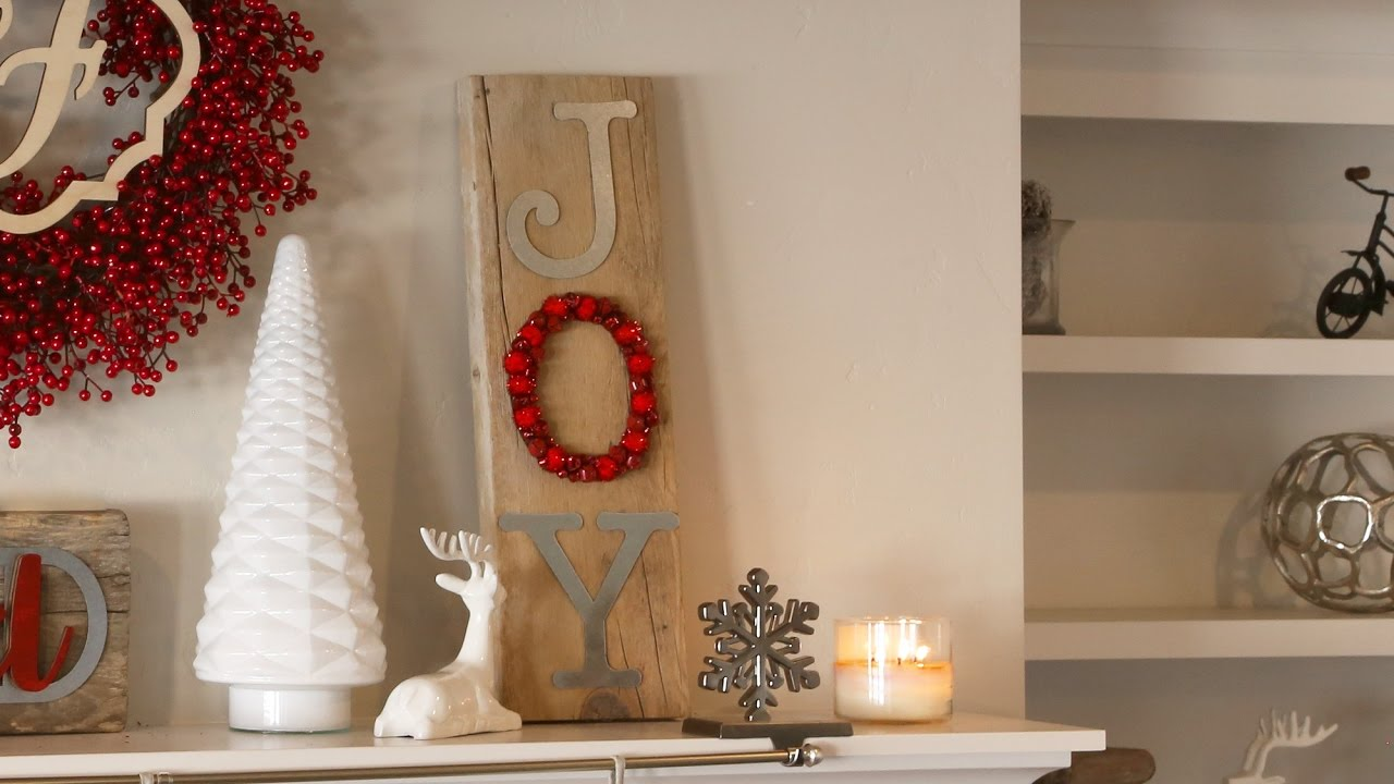 Reclaimed Wood Jingle Bell JOY Sign - DIY - YouTube