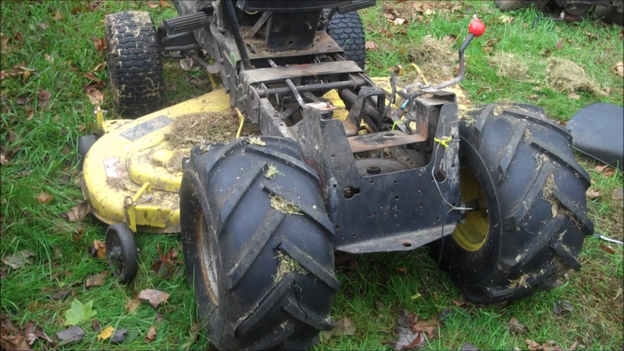 How to replace the transmission on John Deere riding lawn tractor  YouTube
