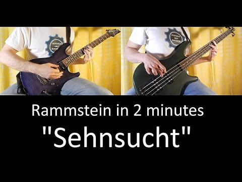 39) Rammstein - Sehnsucht (guitar & bass lesson + TAB | cover HD)