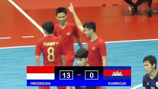 Highlights Indonesia Vs Kamboja (13-0) AFF Futsal Championship 2018
