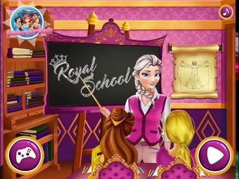 Мультик игра Принцессы Диснея: Королевская школа (Royal School)