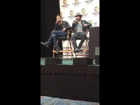 Paul Wesley talking about Chris Wood