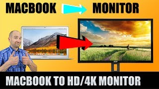 How to Connect an Apple Macbook Air/Pro to an External HD/4K Computer Monitor