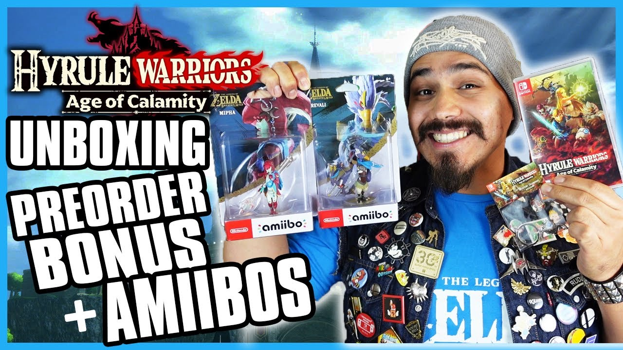 Hyrule Warriors Age Of Calamity Unboxing With Mystery Guardian Keychain Pre Order Bonus Amiibos Youtube