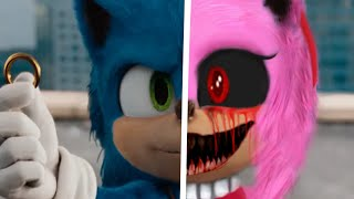 Sonic vs Amy.EXE - Sonic The Hedgehog Movie Choose Your Favorite Design For Both Characters