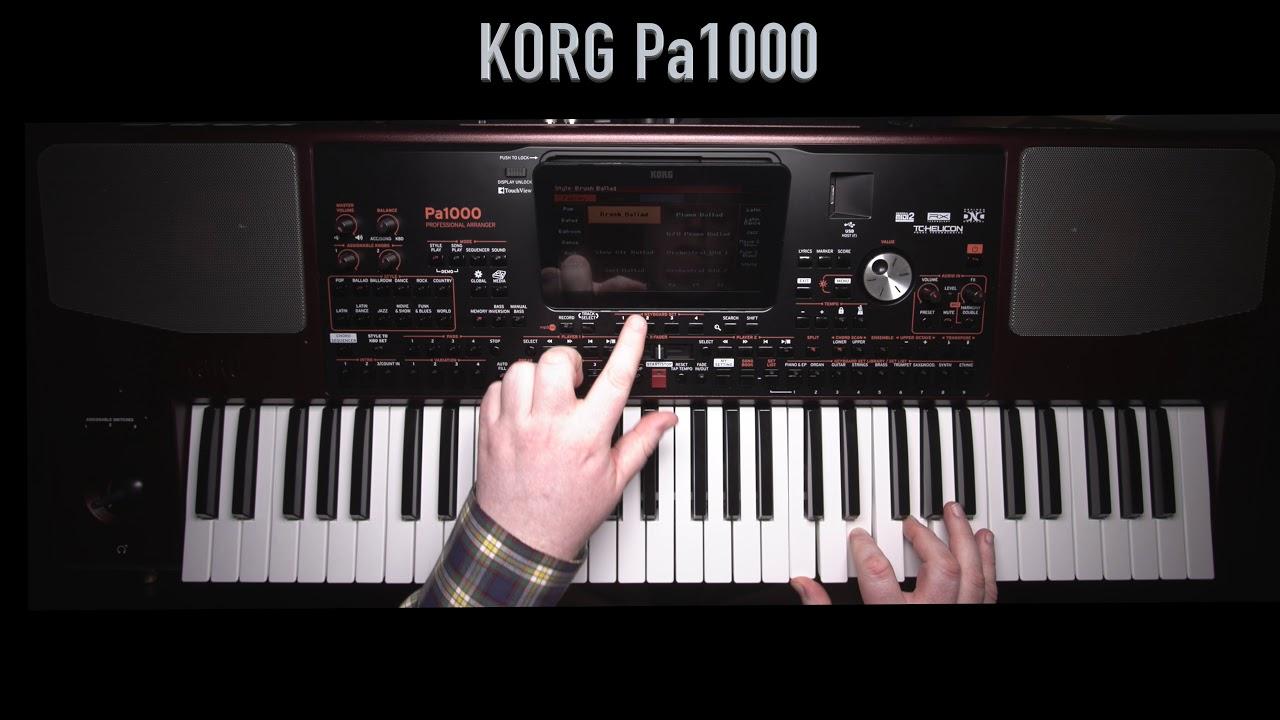 מבריק Korg Pa1000 Impro Demo - LIVE - YouTube NV-95