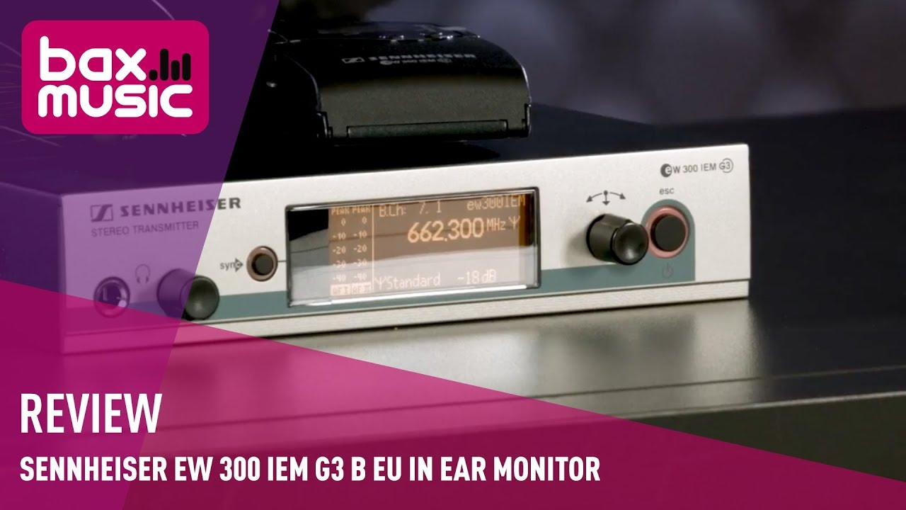 sennheiser ew 300 iem g3 b eu in ear monitor review youtube. Black Bedroom Furniture Sets. Home Design Ideas