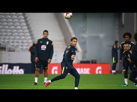 【SAMURAIBLUE in FRANCE】11/9 ブラジル代表が試合前日公式トレーニング、記者会見を行う