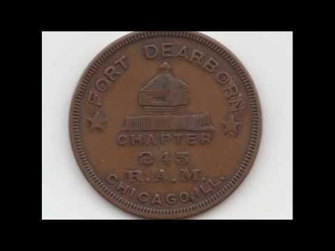 ★ MYSTERY COIN ★ FORT DEARBORN PENNY (1893 WORLD