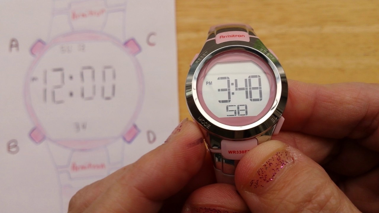 How to set time on armitron all sport watch pro sport watch.