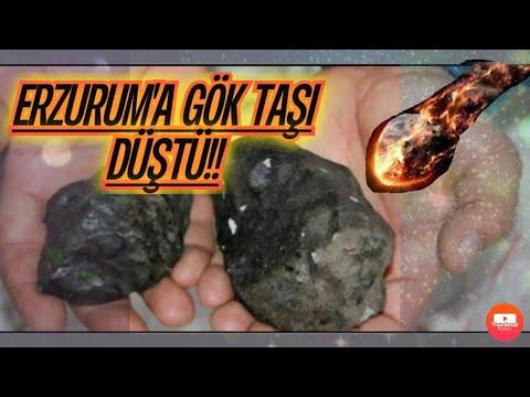 Türkiye'ye Göktaşı düştü Erzurum ve Trabzon'da göktaşı (Meteor)